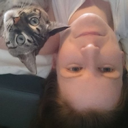selfie with bengal cat